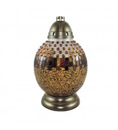 Lanterne funéraire mosaïque avec perles