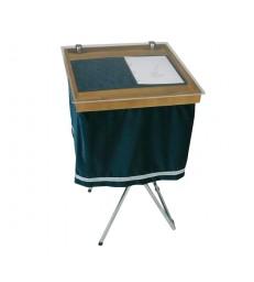 Protège registre en bois et plexiglass