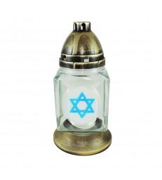 Lanterne funéraire Étoile de David