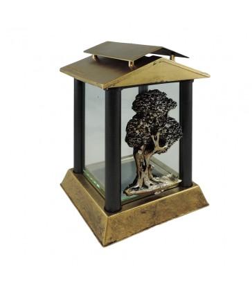 Lanterne funéraire carré avec motif arbre