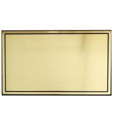 Plaque identité autocollante simple filet pour cercueil