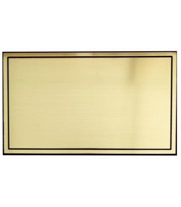 Plaque identité autocollante plastique pour cercueil