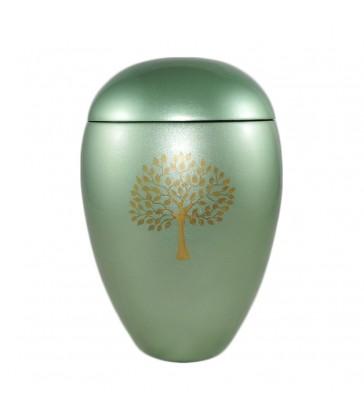 urne fun raire en r sine laqu e avec motif d 39 arbre. Black Bedroom Furniture Sets. Home Design Ideas
