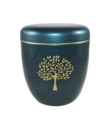 urne fun raire en aluminium avec motif d 39 arbre. Black Bedroom Furniture Sets. Home Design Ideas