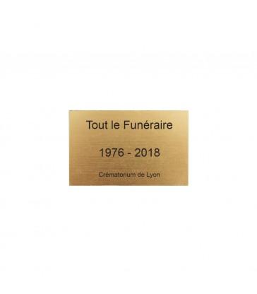 Plaque identité urne GRAVÉE personnalisable