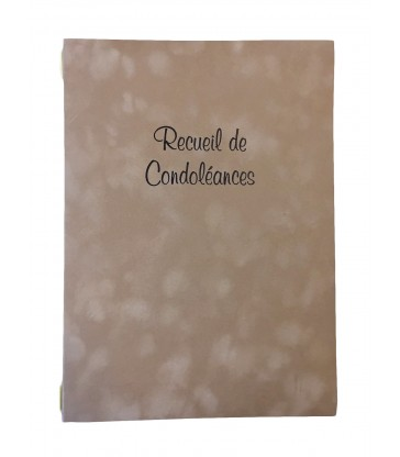 Registre de condoléances ADAGIO suédine et carton