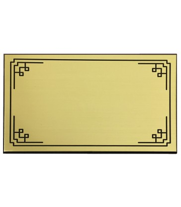 Plaque identité autocollante avec motif pour cercueil