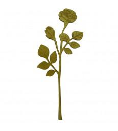 Branche de rosier en bois