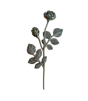 Branche de rosier en Zamak