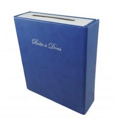 Boîte à dons avec ceinture réutilisable