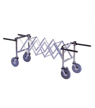 Chariot extensible pour cercueil, roue 125, verrouillable