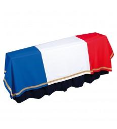 Drap tricolore pour cercueil