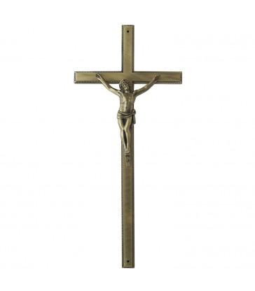 Croix cercueil «Zamak» cordon avec Christ
