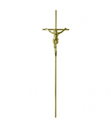 Croix cercueil «fil» avec Christ Zamak