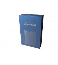 Boîte à dons avec scellé et porte photo