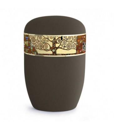 Urne funéraire biodégradable frise Gustave Klimt