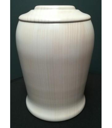 Urne funéraire en bois pin lasuré blanc