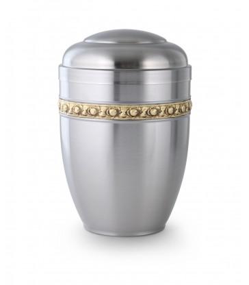 urne funéraire acier satiné - sans cendrier