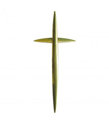 Croix cercueil Zamak «Galbe»