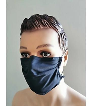 Masque barrière grand public en tissu Marine - Catégorie 1