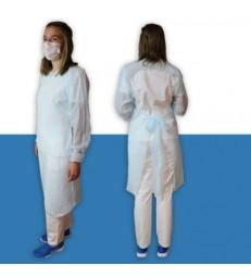 Tablier jetable polyéthylène manches longues, par 10