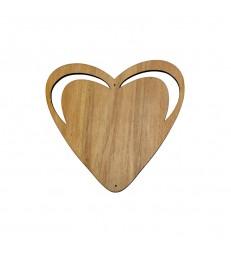 Coeur avec découpes en bois