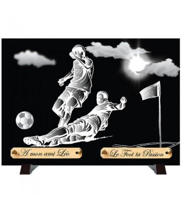 """Plaque Funéraire Monochrome """"Football"""""""