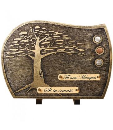 """Plaque Funéraire Contemporaine Bronze """"Arbre"""""""