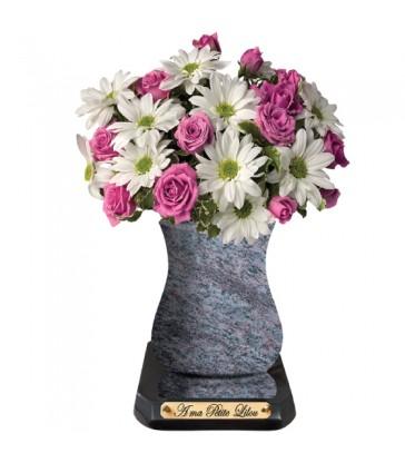 """Plaque Funéraire Fleurs """"Bouquets"""""""