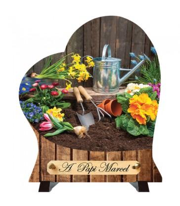 """Plaque Funéraire Cœur """"Le jardin"""""""