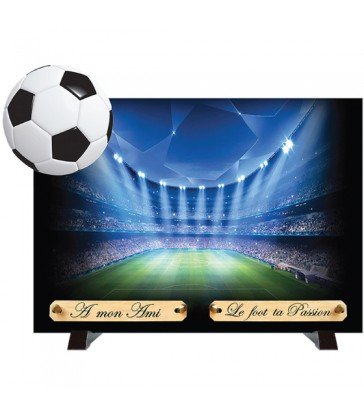 "Plaque Funéraire débordantes ""Football"""