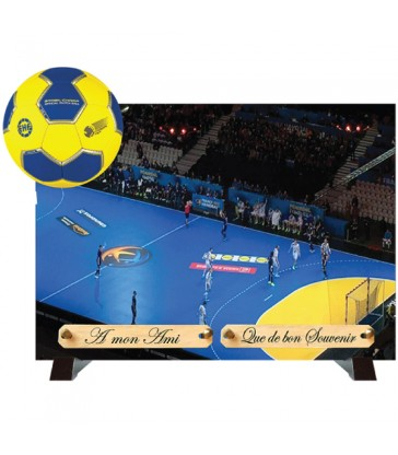 "Plaque Funéraire débordantes ""Le Handball"""