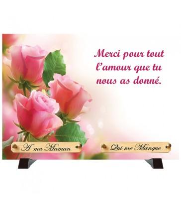 """Plaque Funéraire """"Rose"""""""