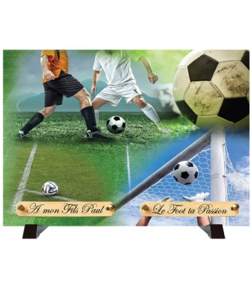 "Plaque Funéraire ""Football"""