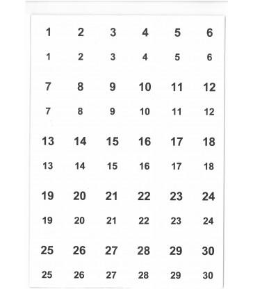 2010 Étiquettes jumelles numérotées en planches